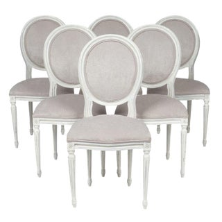 Louis XVI Style Velvet Dining Chairs