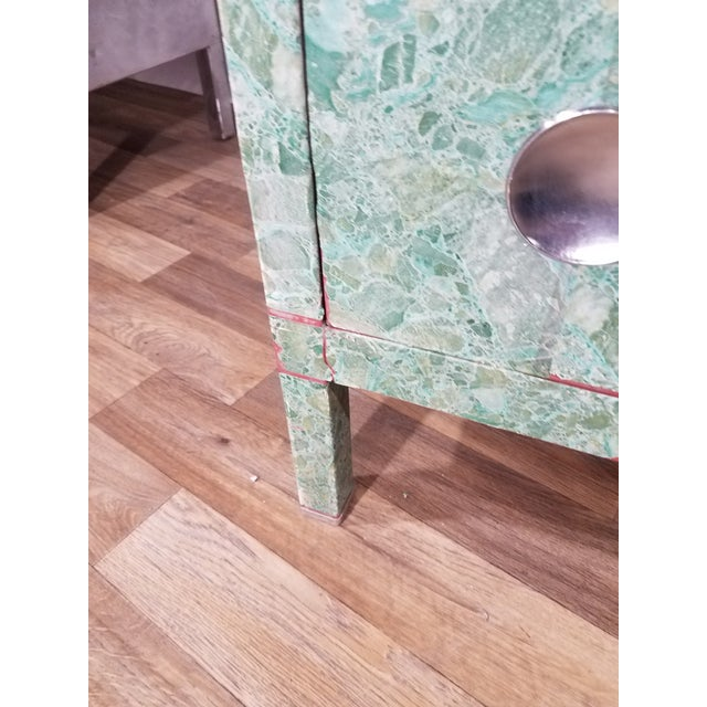 Simmons 3-Drawer Steel Green Granite Chest Of Drawers For Sale - Image 10 of 11