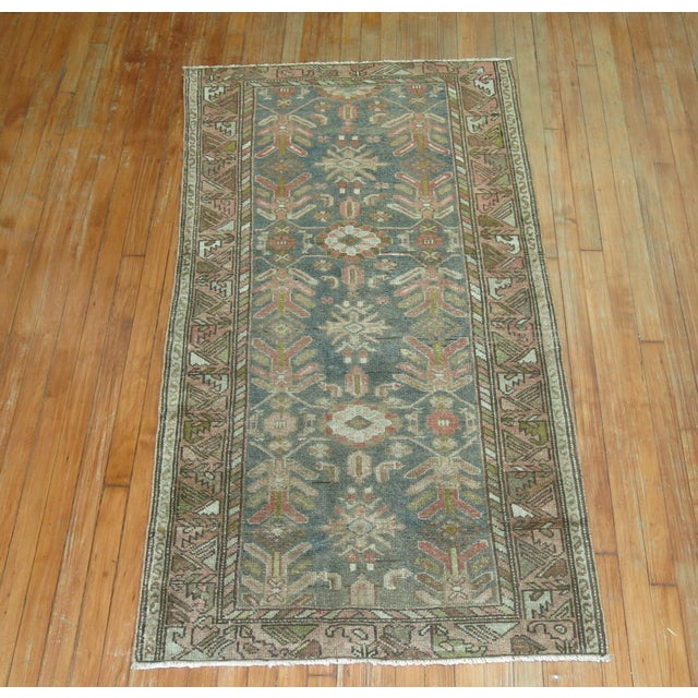 A 20th Century scatter Size Persian Malayer Rug with an all-over design . Professionally Cleaned and able to endure heavy...