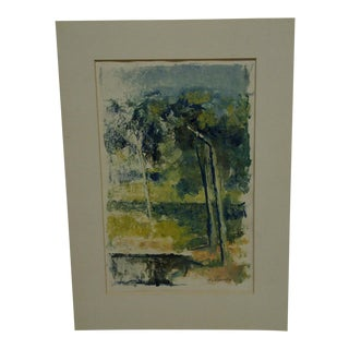 """Tomasello Original """"Trees"""" Matted Color Monotype"""
