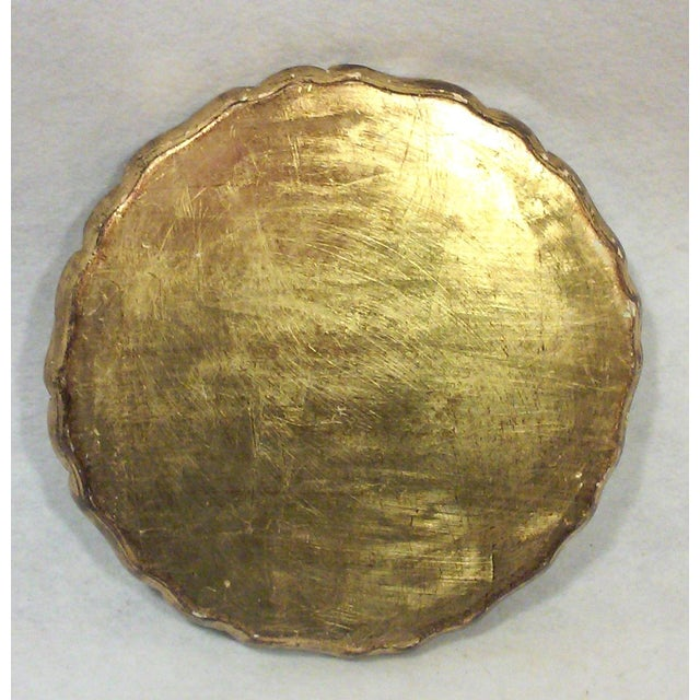 Florentine Florentine Green and Gold Leaf Decorative Tray For Sale - Image 4 of 5