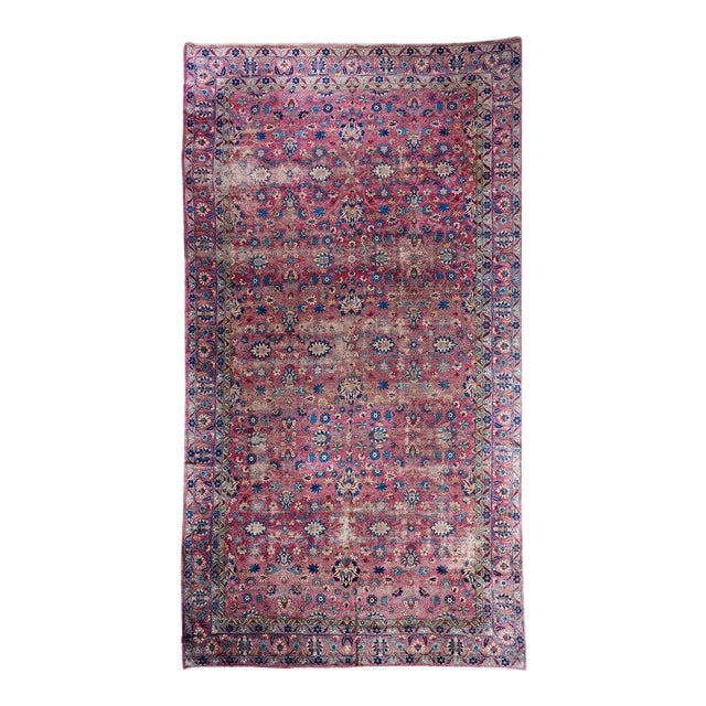 Oversized Magenta Ground Khorasan Carpet For Sale