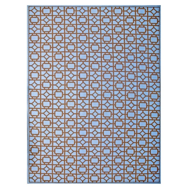 """Modern Needlepoint Wool Rug 9'0"""" X 12'0"""" For Sale - Image 10 of 10"""