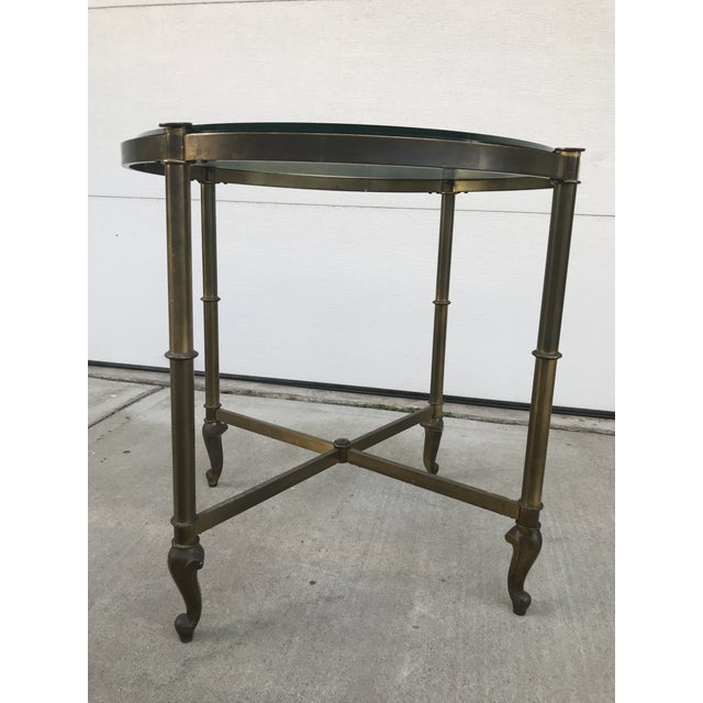 1960s Regency Style Corner Table For Sale - Image 5 of 9