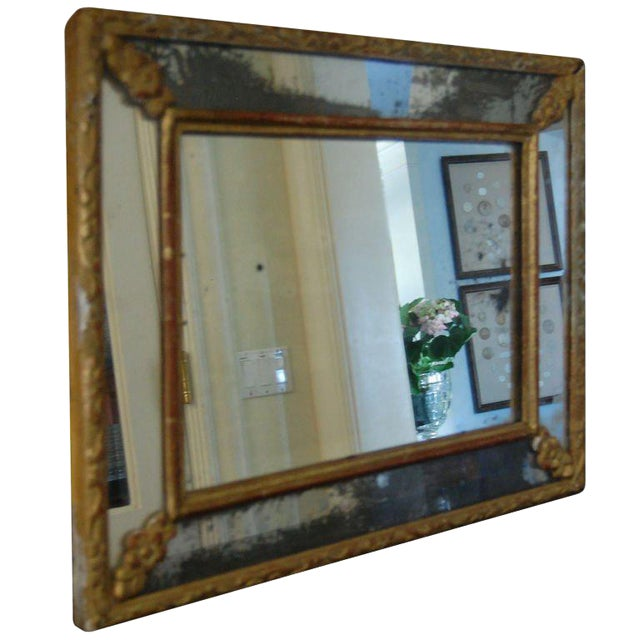 French Cushion Frame Mirror For Sale