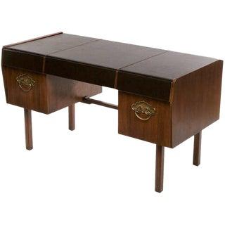 Bert England Persian Walnut & Leather Desk For John Widdicomb