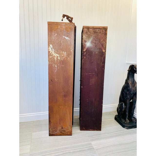 Industrial Metal Watchmaker/Jeweler Parts Cabinets - a Pair For Sale - Image 12 of 13