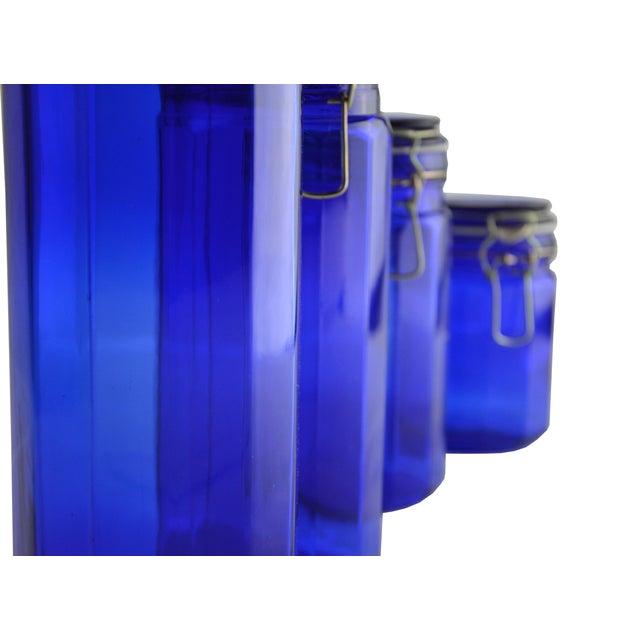 Vintage Cobalt Blue Canisters - Set of 4 - Image 3 of 5