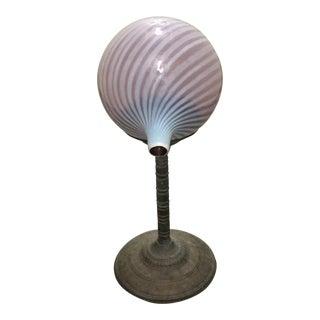 Swirled Cranberry Glass Gazing Ball