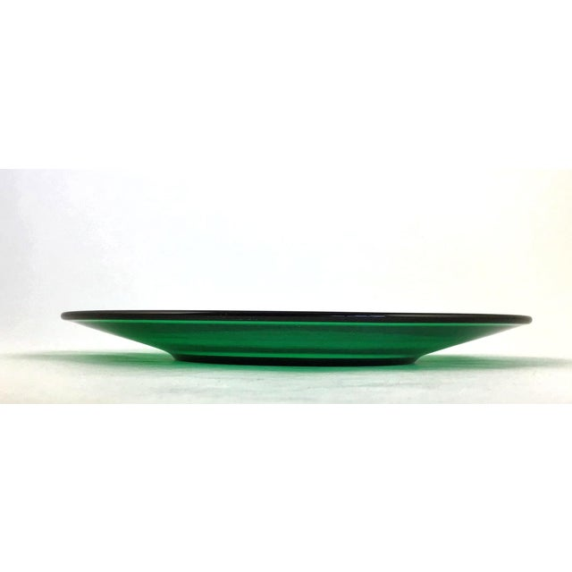 Mid-Century Modern 1950s Vintage Anchor Hocking Green Dessert Plate For Sale - Image 3 of 7