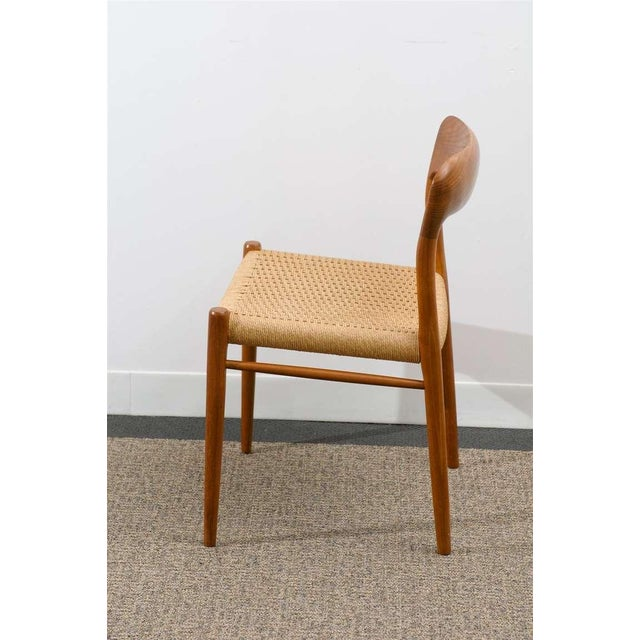 Danish Modern Stellar Original Set of Eight Moller #75 Chairs in Teak For Sale - Image 3 of 10