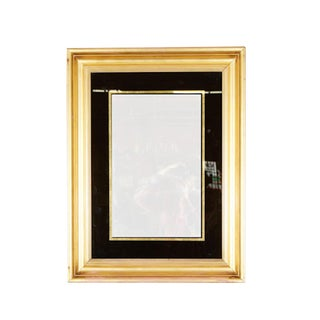 English Reverse Painted Gold Mirror in Gilt Frame For Sale