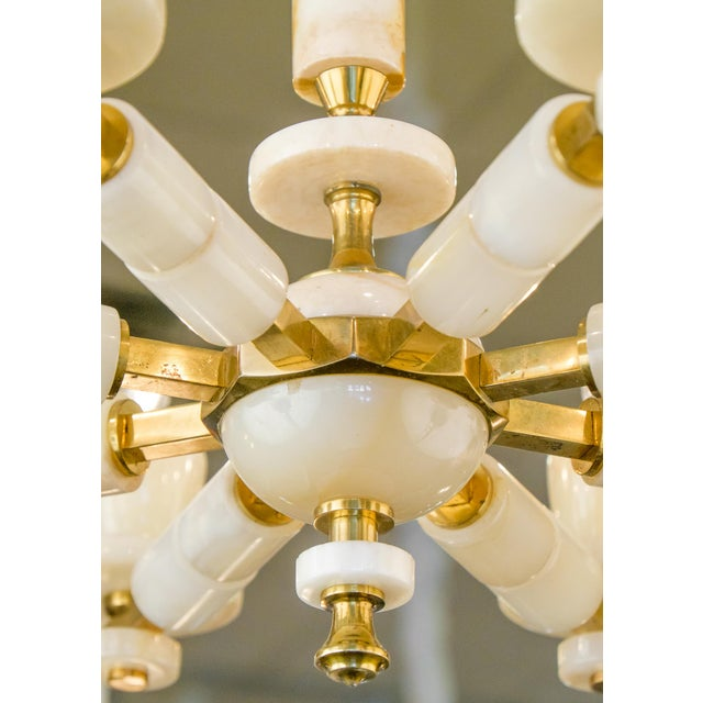 Onyx Brass Eight Arm Chandelier For Sale - Image 10 of 11