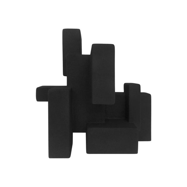 "Abstract ""Negative Space 5.3"" Matte Black Sculpture in Rubber Finish by Dan Schneiger For Sale - Image 3 of 5"