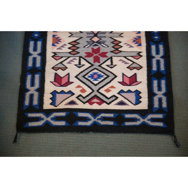 Vintage Navajo Hand Loomed Geometric Rug by Ella John- 2′1″ × 3′2″ For Sale - Image 4 of 12