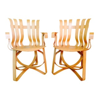 Frank Gehry for Knoll Hat Trick Chairs - Set of 4 (2 Armed, 2 Armless) For Sale