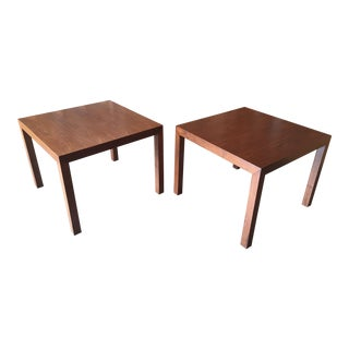 Mid-Century Modern Edward Wormley for Dunbar Walnut Parsons Tables - a Pair For Sale