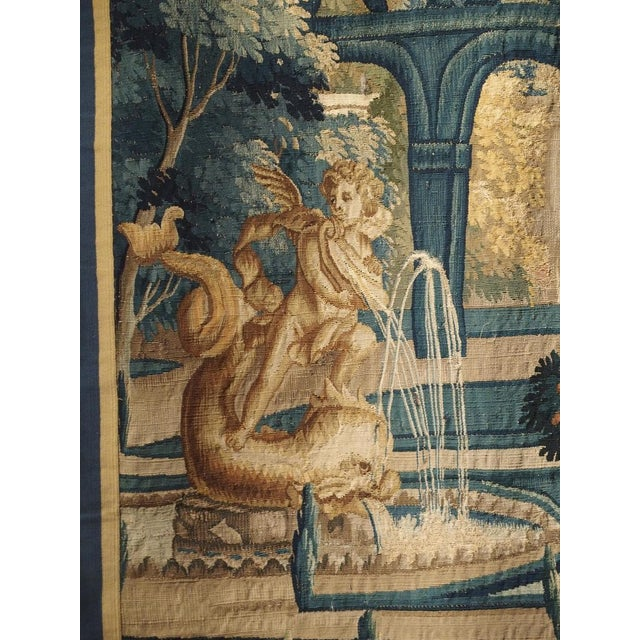 17th Century Park Scene Tapestry From France For Sale - Image 11 of 13