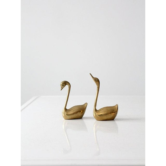 Mid-Century Brass Swans - A Pair - Image 2 of 6