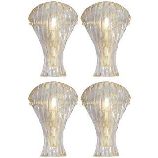 Vintage Mazzega Italian Gold Shield Sconces (4 Available) Final Clearance Sale For Sale