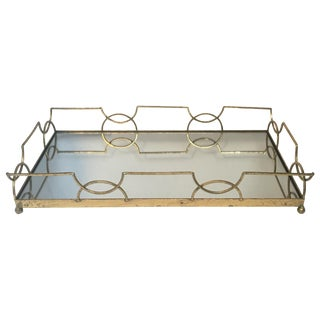 Gold Leaf Mirrored Tray