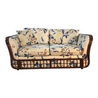 Vintage 1970s Rattan 2 Seat Sofa For Sale