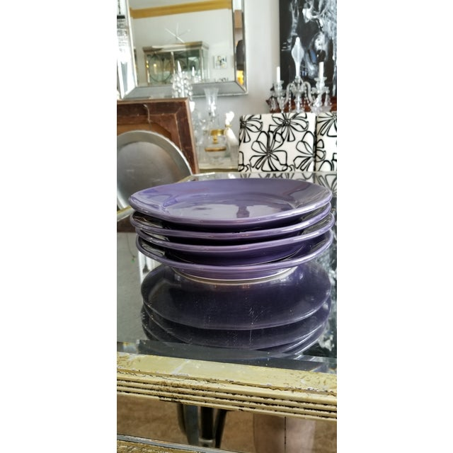 Italian Artisan Made Aubergine Plates - Set 4 For Sale In Miami - Image 6 of 9