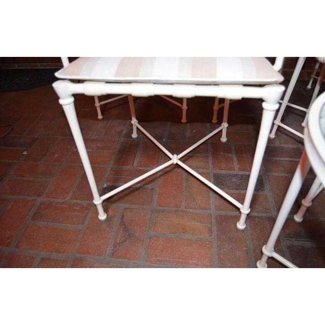 Brown Jordan Vintage Brown Jordan Outdoor Cast Metal Patio Table and Chairs For Sale - Image 4 of 13