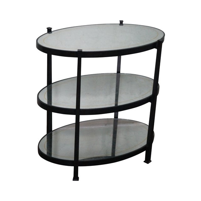 Jonathan Charles Luxe Collection 3 Tier Side Table For Sale