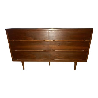 Mid-Century Modern Walnut Dresser For Sale