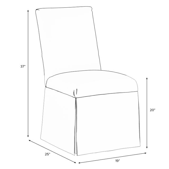 Wood Slipcover Dining Chair in Velvet Applegreen For Sale - Image 7 of 8