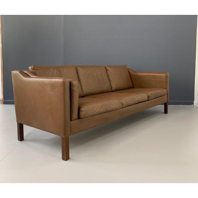 Mid-Century Modern Børge Mogensen Model 2213 Three-Seat Sofa For Sale - Image 3 of 7