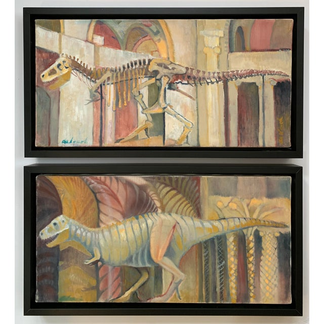 Frank deLoach Dinosaur Oil Paintings - A Pair For Sale - Image 12 of 12