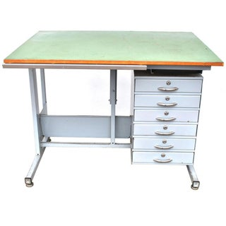 Industrial Drafting Table Desk Preview