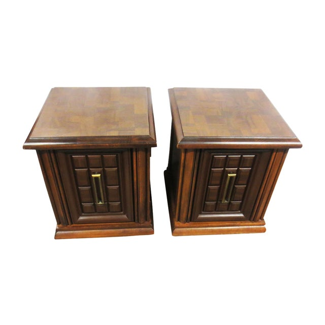 Mersman Side Tables or Nightstands - A Pair - Image 2 of 9