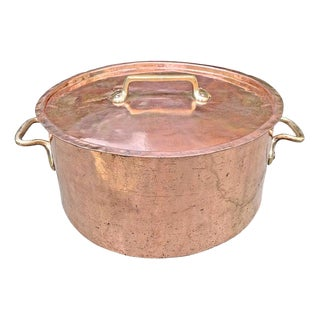 Monumental 65-Quart Copper Pot From a Country House For Sale