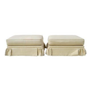 Sherrill Furniture Ottomans on Casters For Sale