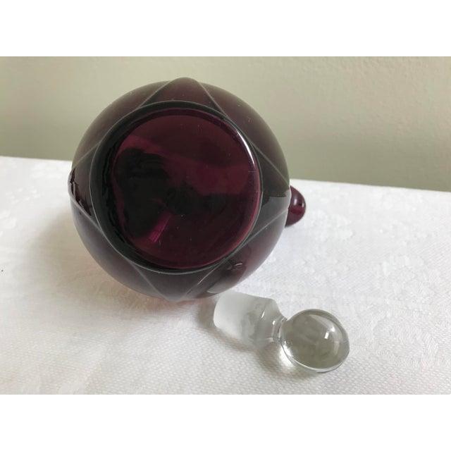 Art Deco Art Deco Amethyst Cambridge Glass Ball Pitcher Cordial Set For Sale - Image 3 of 6