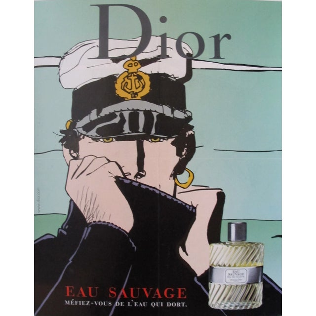 Dior Eau Sauvage Men's Perfume Ad Poster - Image 1 of 3