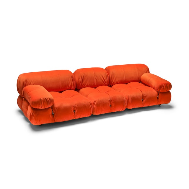 1970s Camaleonda Sectional Sofa in Bright Orange For Sale - Image 9 of 9