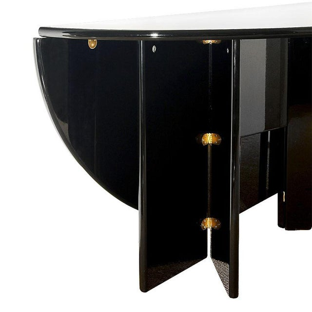 Black 1978 'Antella' Table or Console by Kazuhide Takahama, Simon International - Italy For Sale - Image 8 of 9