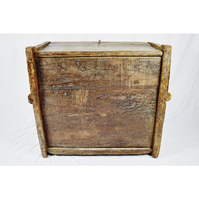 Ancient Kafiristan Wooden Dowry/Treasure Chest - Image 10 of 10