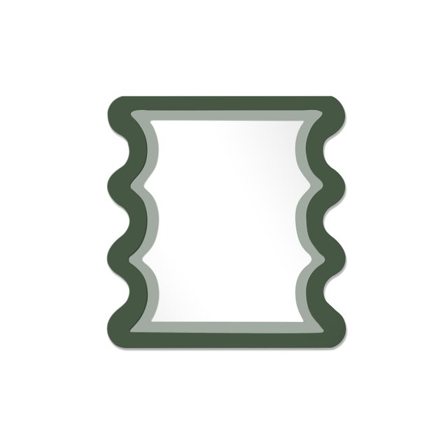 Contemporary Fleur Home x Chairish Carnival Mystic Rectangle Mirror in Duck Green, 24x36 For Sale - Image 3 of 3