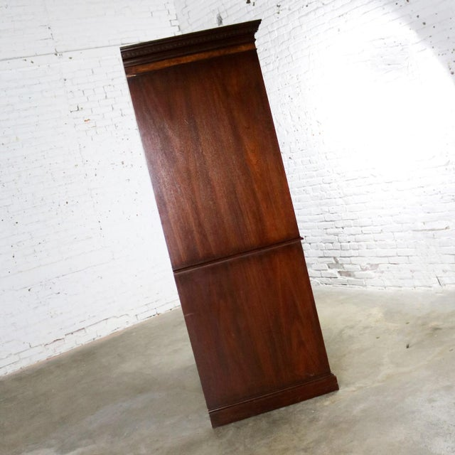 Late 20th Century Georgian Style Large Mahogany Entertainment Armoire Wardrobe Cabinet by Hekman For Sale - Image 5 of 13