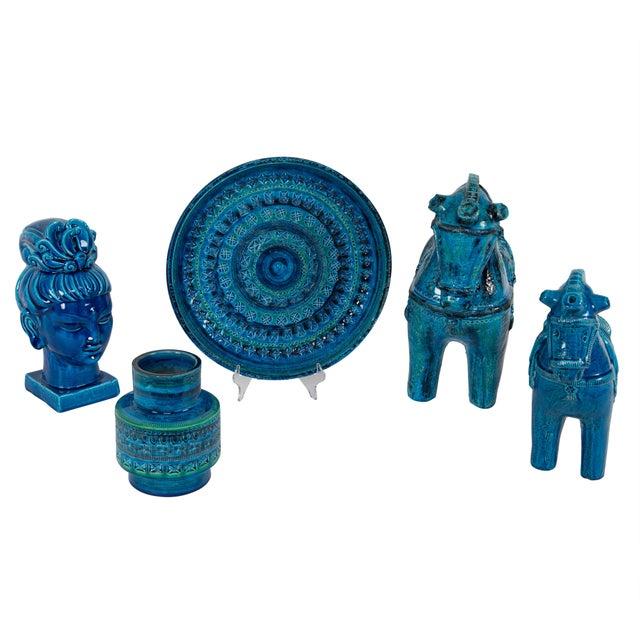 """""""Rimini Blu"""" Ceramic Vase by Aldo Londi for Bitossi, Circa 1960s For Sale - Image 9 of 10"""