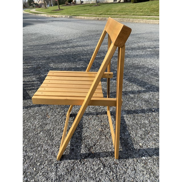 Vintage Maple Folding Chairs - Set of 4 For Sale - Image 4 of 11