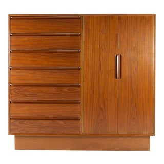 Westnofa Danish Modern Teak Chest of Drawers For Sale