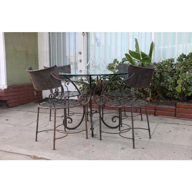 Italian Italian Wrought Iron Dining Set For Sale - Image 3 of 11