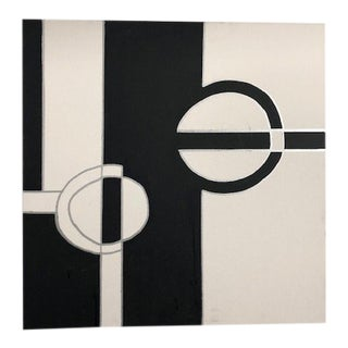 Contemporary Black and White Acrylic Painting on Canvas by Susan Cohen For Sale