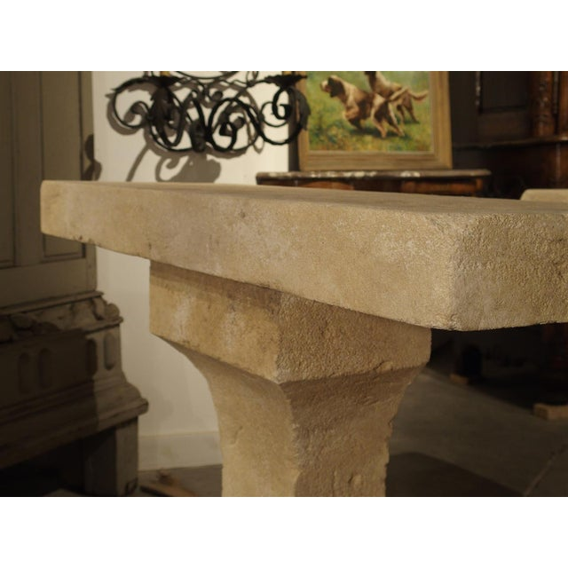 Pair of Carved Limestone Console Tables from the South of France - Image 9 of 11